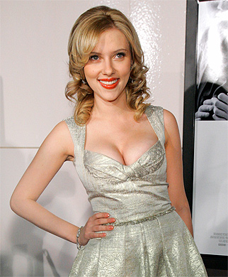 BUSTING OUT: Scarlett Johansson came third in the poll.[Agencies]