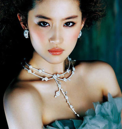 Crystal Liu graces jewelry magazine