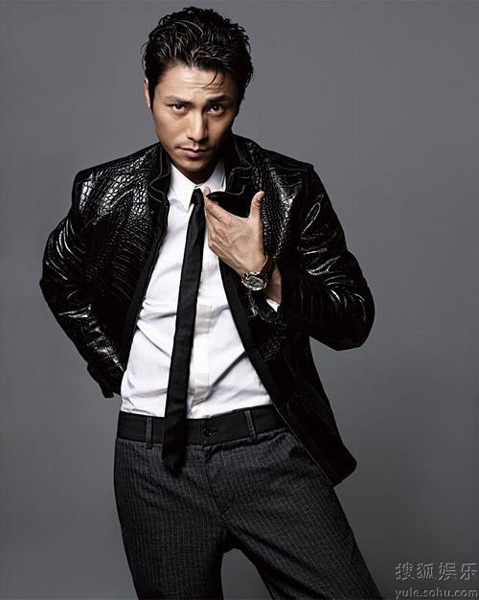 chen kun takes on gangster style