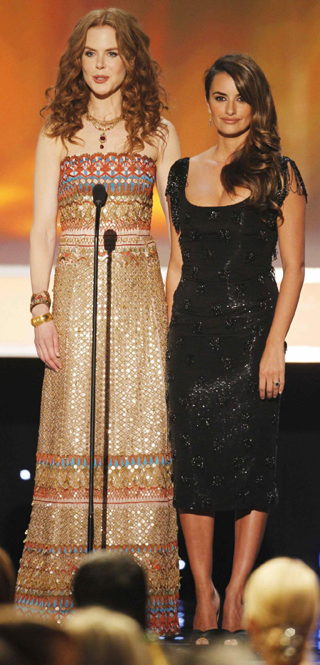 Nicole Kidman and Penelope Cruz at 16th annual Screen Actors Guild Awards in L.A.