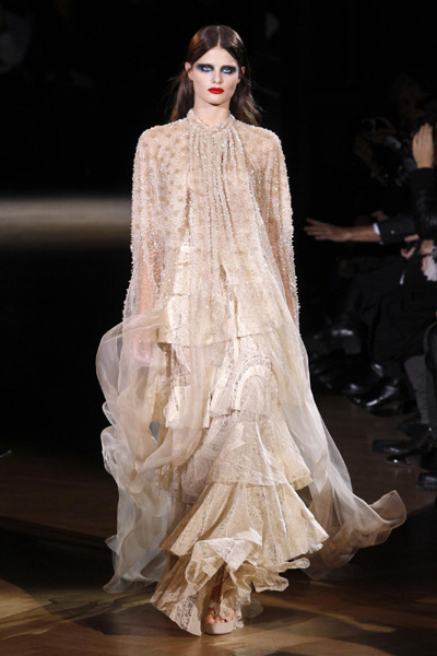 French Fashion Designers Haute Couture on Tisci For French Fashion House Givenchy As Part Of Their Haute Couture