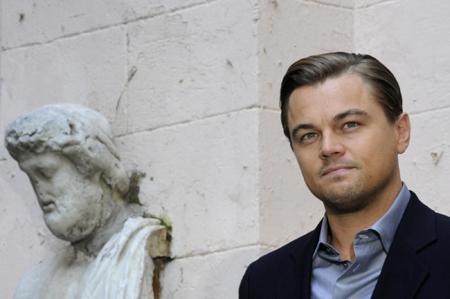 Leonardo DiCaprio attends a news conference to promote film