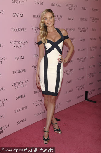 Models at victoria's secret swim catalog 15th anniversary party