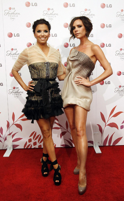 Eva and Victoria at LG Fashion Touch party in West Hollywood