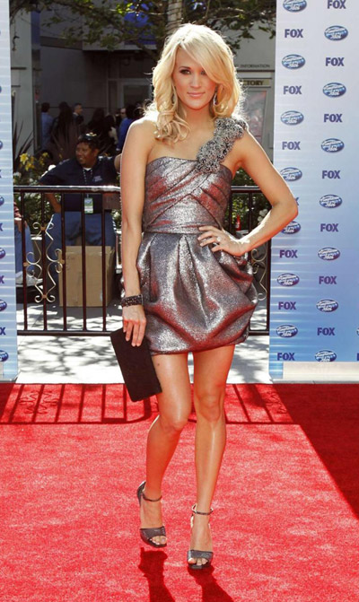 Carrie Underwood arrives for 9th season finale of 'American Idol'