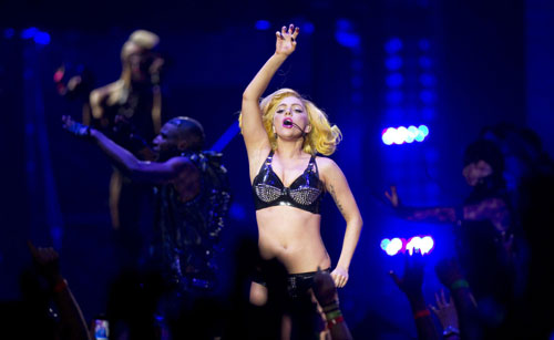 Lady Gaga performs at Madison Square Garden