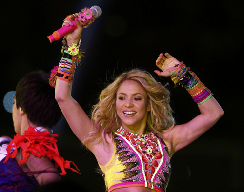 Shakira performs during closing ceremony of 2010 World Cup