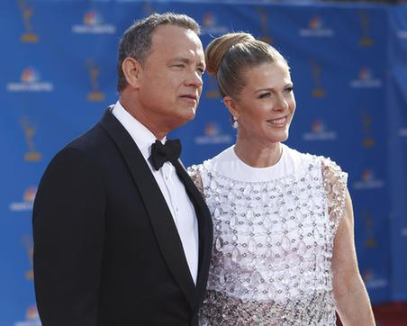 tom hanks wife. Tom Hanks and wife Rita Wilson