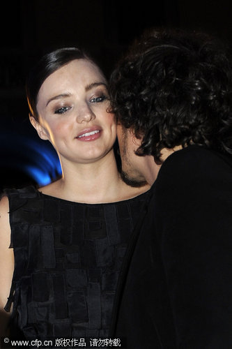 Orlando Bloom and Miranda Kerr in Milan for fashion week