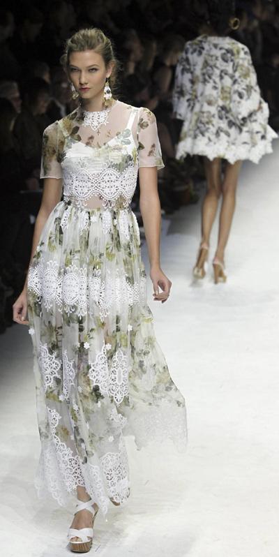 Dolce&Gabbana's Spring/Summer 2011 women's collection