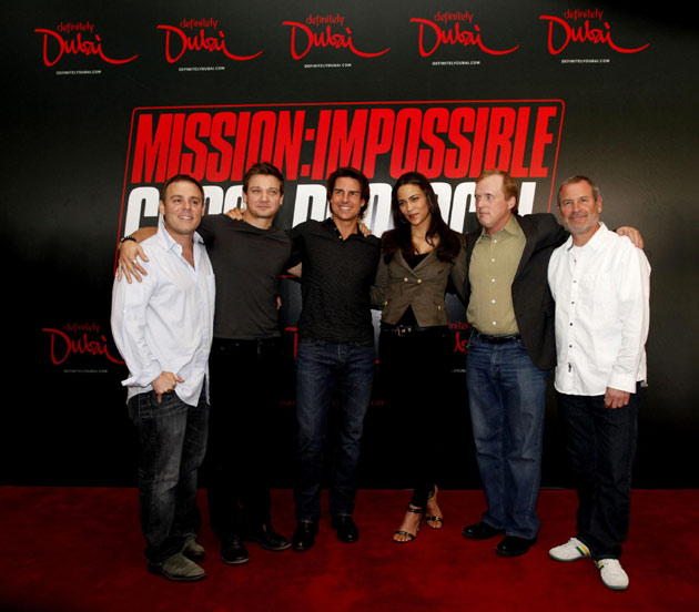 tom cruise mission impossible 4. Tom Cruise in Dubai for film
