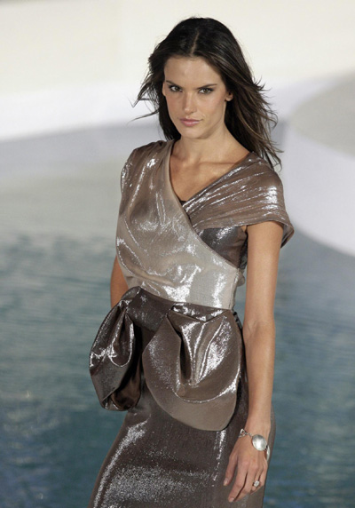 Alessandra Ambrosio presents a creation by Alexia Ulibarri