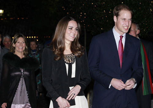 Britain's Prince William and his fiancee arrive at The Thursford Collection