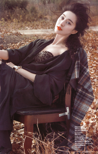 Fan Bingbing graces the January issue of Elle China