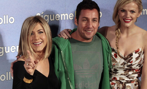 Jennifer Aniston promotes movie 'Just Go With It' in Madrid