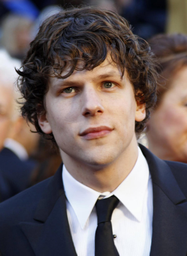 Jesse Eisenberg arrives at the 83rd Academy Awards