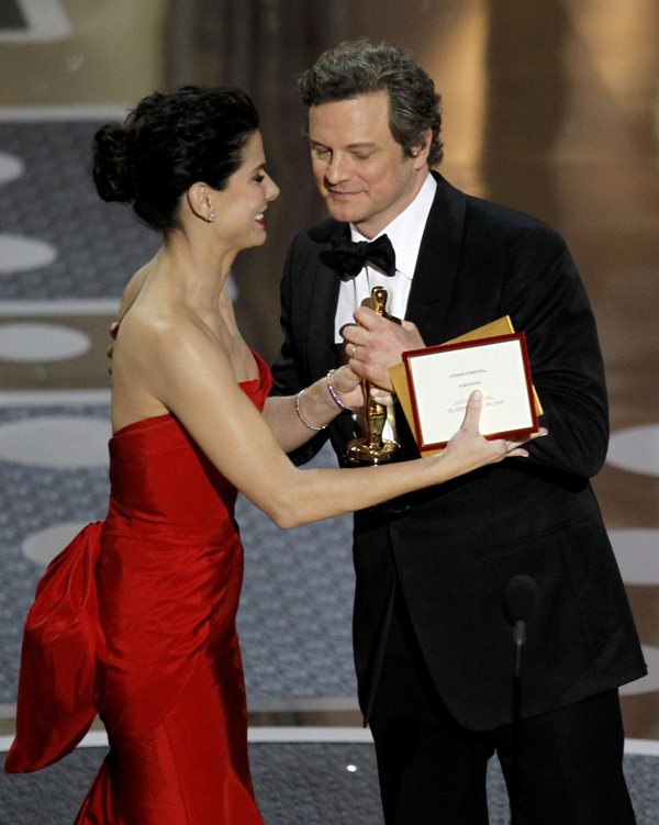 Colin Firth wins the Oscar for best actor