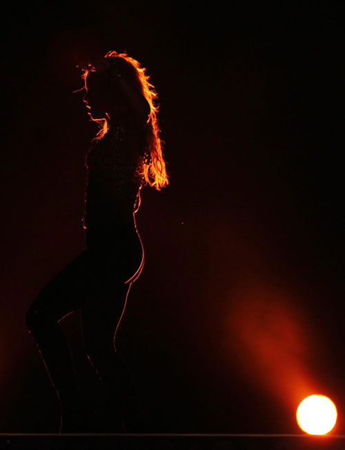 Pop diva Shakira performs in Buenos Aires