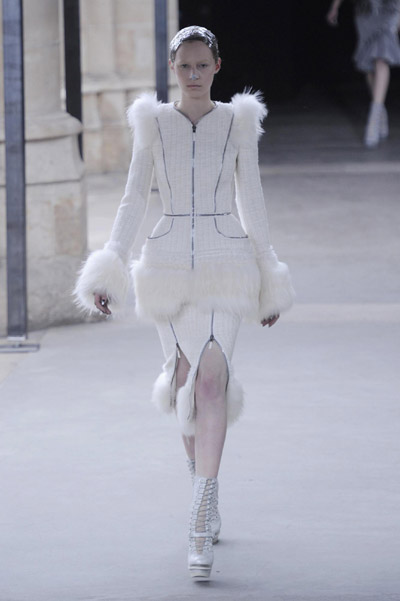 Alexander McQueen fashion collection show during Paris Fashion Week