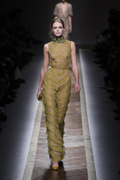 Valentino fashion collection show during Paris Fashion Week