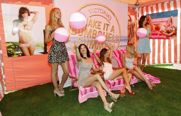 Victoria's Secret models pose for the 6th Annual What is Sexy? List in Los Angeles