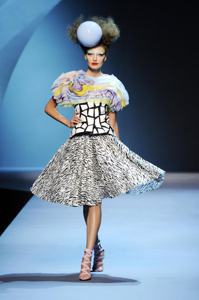 French house dior in haute couture fashion show for French haute couture