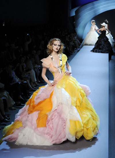 French Fashion Designers Haute Couture on French House Dior During Haute Couture Fall Winter 2011 2012 Fashion