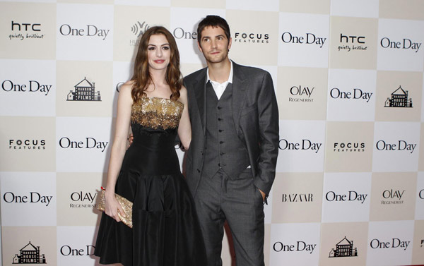 Hathaway and Jim Sturgess at premiere of the film 'One Day ... Anne Hathaway Movies