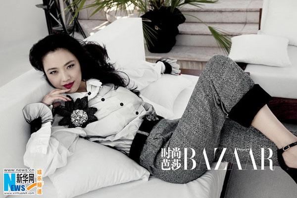 Tang wei for sept issue of harper s bazaar