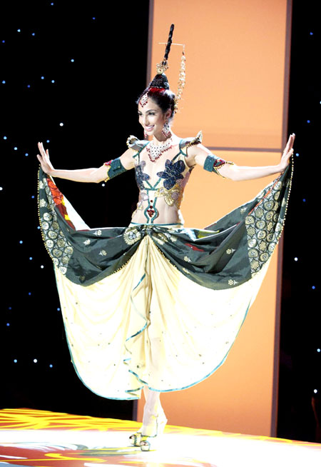 Miss Universe contestants in national costumes