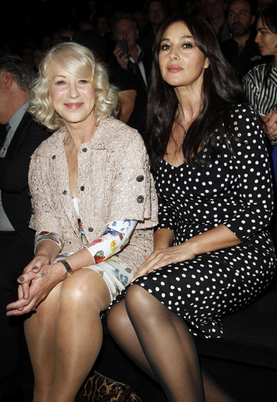 Helen Mirren >> Bellucci and Mirren at D&G show|Style|chinadaily.com.cn