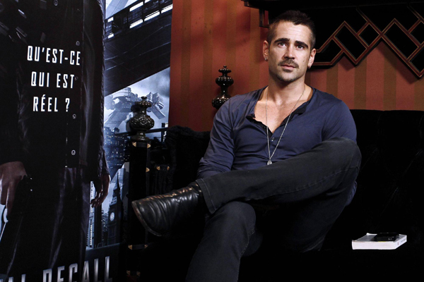 Colin Farrell promotes 'Total Recall' | Movies |chinadaily ...