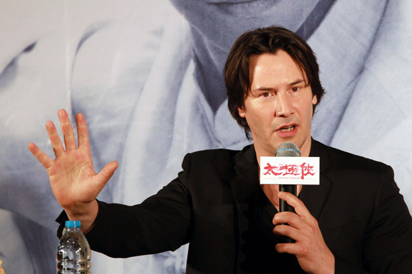 Keanu Reeves promotes his director debut Man of Tai Chi in Hangzhou