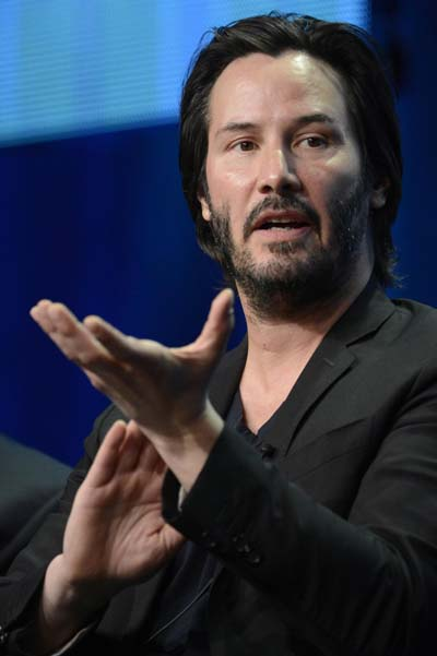 Keanu Reeves parcipates in panel for 'Side by Side'