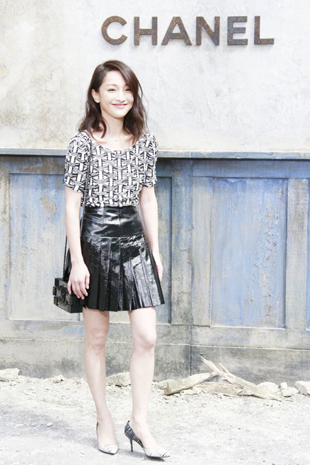 Celebrities Attend Chanel Fashion Show 1