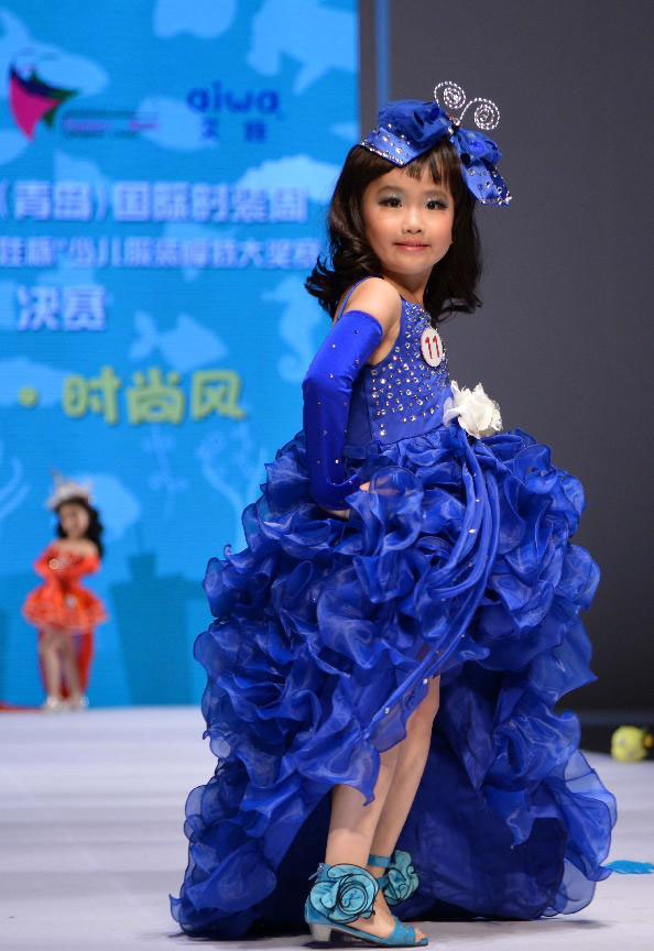 Kids model contest held during China (Qingdao) Int'l Fashion