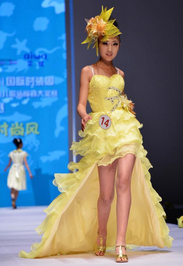 Kids Model Contest Held During China Qingdao Int L Fashion Week 7