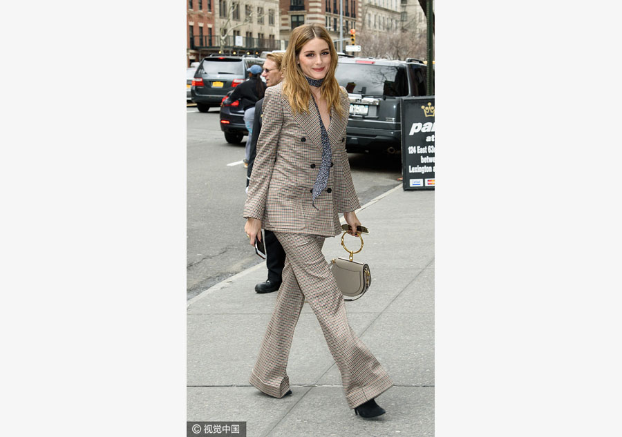 how to wear a silk scarf with a ladies suit