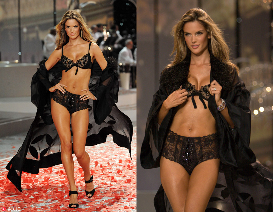 e0cab4a1be Iconic moments from Victoria s Secret Fashion Show. Model Alessandra  Ambrosio walks on the runway ...