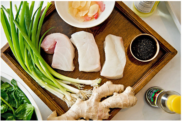 Cod with sesame and ginger