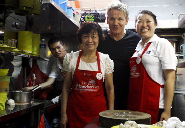 British celebrity chef Gordon Ramsay in Singap