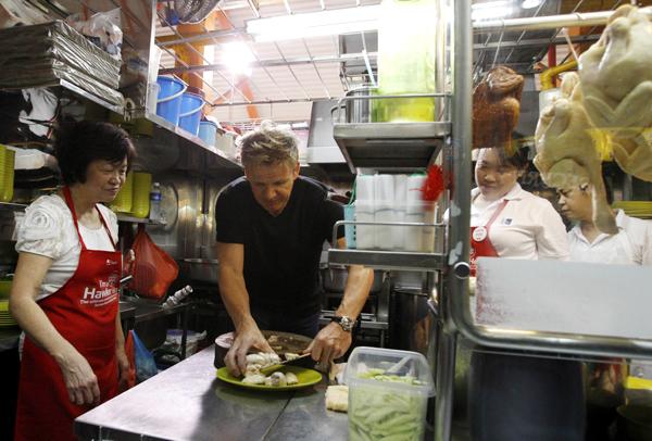 British celebrity chef Gordon Ramsay in Singapore