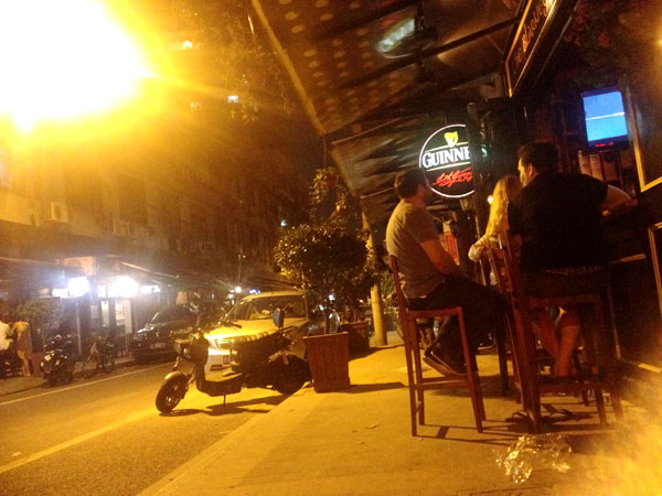 Bar street heaven for expats, hell for locals