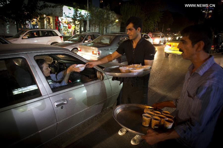 Muslims break their fast during month of Ramadan