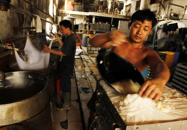 Tofu factory in Jakarta