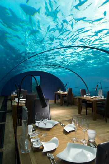 World 39 S First Underwater Restaurant In Maldives