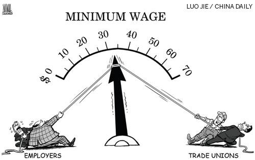 Minimum wage adjustment pits business against unionists