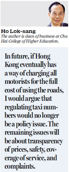 Technology cruises past owners of taxi licenses HongKong
