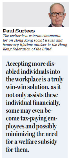 Hk Must Offer More Jobs To Blind People Hongkong Comment