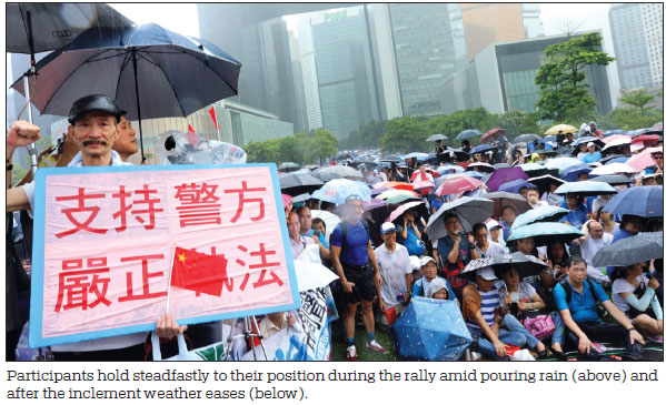 Massive rally in support of HK police
